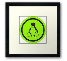 Tux Green Framed Print