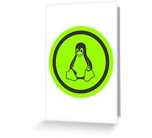 Tux Green Greeting Card