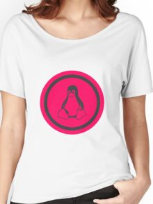 Tux Red Linux Women's Relaxed Fit T-Shirt