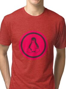 Tux Red Linux Tri-blend T-Shirt