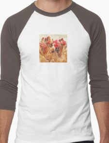 Wetnose Chickens Colour Men's Baseball ¾ T-Shirt