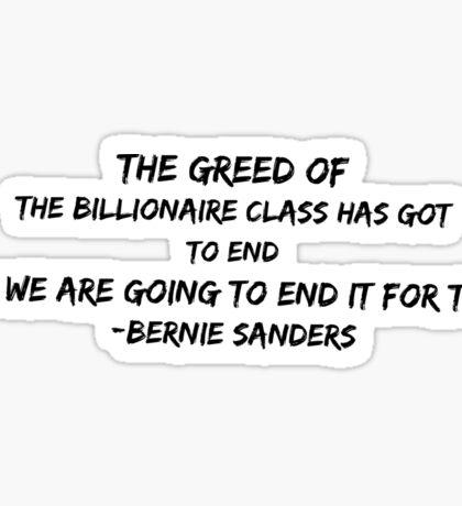Bernie Sanders quote Sticker