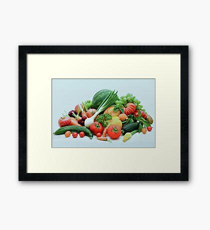 Vegetable display Framed Print