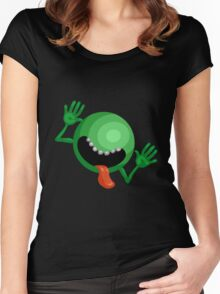 The Hitchhiker's Guide to the Galaxy - Dont Panic  Women's Fitted Scoop T-Shirt