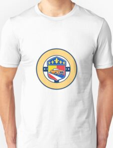 Vintage Cabriolet Fleur-de-Lis Crest Circle Retro Unisex T-Shirt