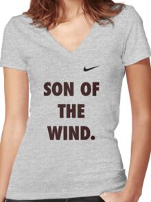 Son of the Wind - Hanuman Women's Fitted V-Neck T-Shirt
