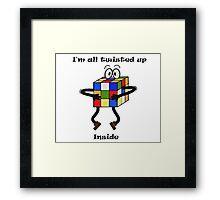 Twisted-Rubik's Framed Print