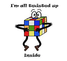 Twisted-Rubik's Photographic Print