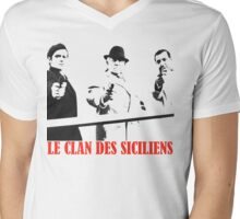 Le Clan Des Siciliens Mens V-Neck T-Shirt