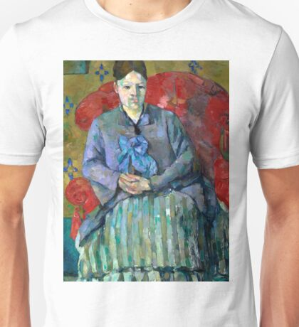 1887 - Paul Cezanne - Madame Cézanne in a Red Armchair Unisex T-Shirt
