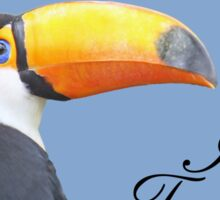 I love toucans blue Sticker