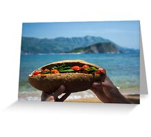 Huge Sandwich for Big Hunger - Product Photography Greeting Card