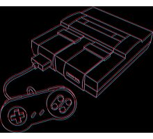 3D Super Nintendo Photographic Print