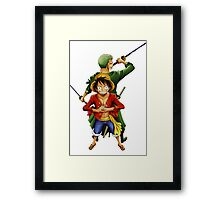 ONE PIECE - ZORO AND LUFFY Framed Print