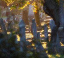 Kensal Green Cemetery in Autumn. Sticker