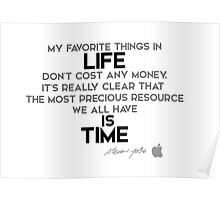 life is time - steve jobs Poster