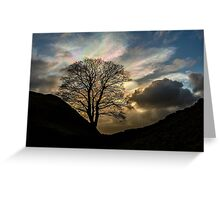 Sycamore Gap Silhouette Greeting Card
