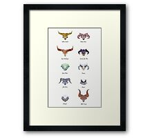The Catalogue of High Dragons Framed Print