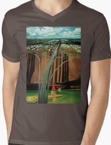 Urban Leisure, vintage collage Mens V-Neck T-Shirt