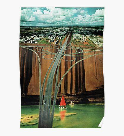 Urban Leisure, vintage collage Poster