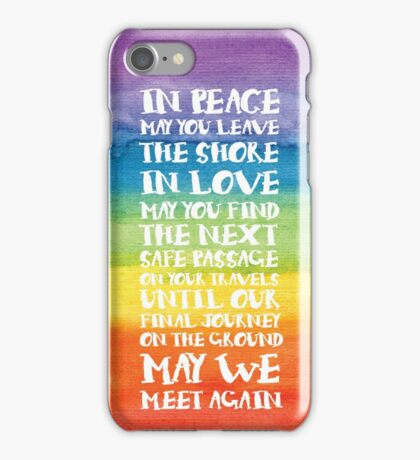 The Travellers Prayer - Reversed iPhone Case/Skin
