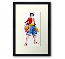ONE PIECE - CAPTAIN LUFFY Framed Print