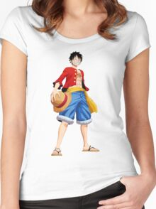 ONE PIECE - CAPTAIN LUFFY Women's Fitted Scoop T-Shirt