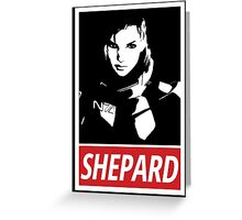 Femshep (Mass Effect 3): Obey Parody Greeting Card