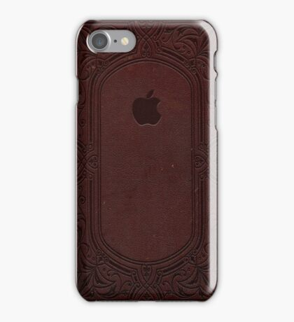 Apple Leather Book Binding Embossed iPhone Case/Skin