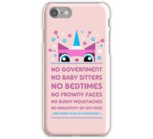 Rules By Princess Unikitty (UK Version) iPhone Case/Skin