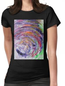 It is an ill wind that blows nobody good - Original Wall Modern Abstract Art Painting Original mixed media Womens Fitted T-Shirt
