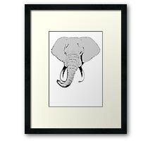Pop Elephant (Plain) Framed Print