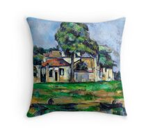 1888 - Paul Cezanne - Banks of the Marne Throw Pillow