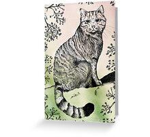 Scottish Wild Cat Greeting Card