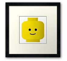 LEGO smiley Framed Print