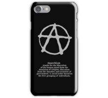Anarchy. iPhone Case/Skin
