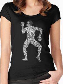 DAB HARING - White Women's Fitted Scoop T-Shirt