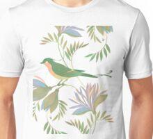 pretty bird dark flower seamless pattern T-Shirt