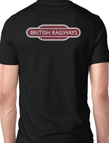 BRITISH RAILWAYS, BR, Enthusiast, SIGN, Flying Sausage, format, Train Spotter Unisex T-Shirt