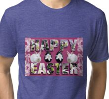 。◕‿◕。 HAPPY EASTER HOP HOP 。◕‿◕。  Tri-blend T-Shirt