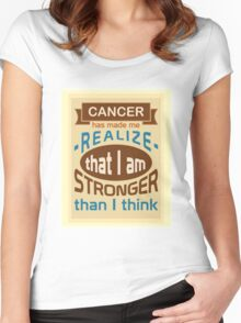 Cancer: I am stronger than I think Women's Fitted Scoop T-Shirt
