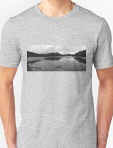 Lake and mountain landscape Unisex T-Shirt