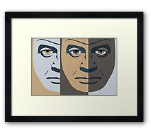 FACES #11 Framed Print