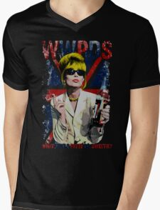What Would Patsy Do, Sweetie? - Black Mens V-Neck T-Shirt