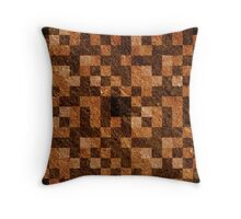 Brown Rock Pixel Pattern  Throw Pillow