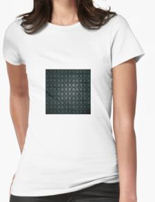 Black background Womens Fitted T-Shirt