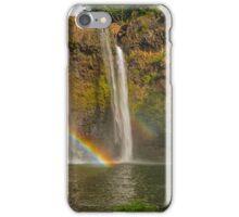 Wailua Falls Double Rainbow Kauai Hawaii iPhone Case/Skin