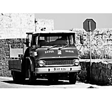 Old Truck in Malta Photographic Print