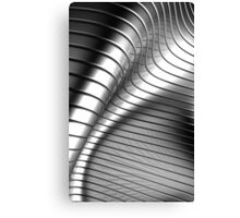 Curved Metal Apple Silver Gold,  Canvas Print