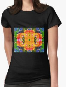 Tropical flowers Womens Fitted T-Shirt